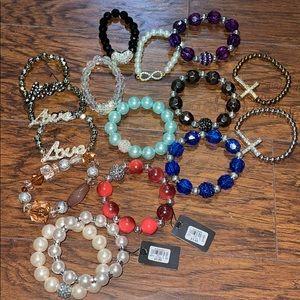 Bundle of Dots brand stretch bracelets